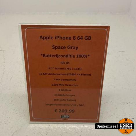 Apple iPhone 8 64GB Space Gray *804951*