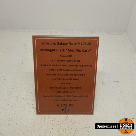 Samsung Galaxy Note 9 128GB Midnight Black *804940*