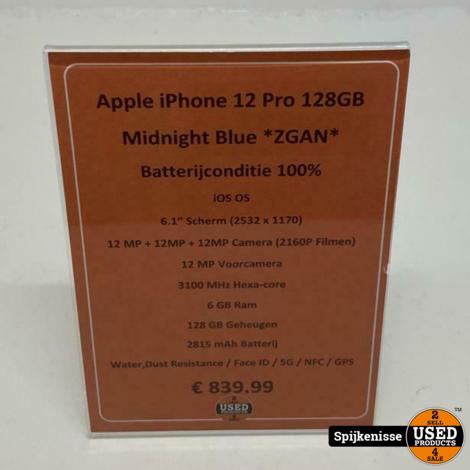 Apple iPhone 12 Pro 128GB Midnight Blue *804987*