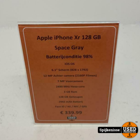 Apple iPhone Xr 128GB Space Gray *805045*
