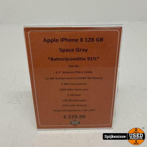 Apple iPhone 8 128GB Space Gray *805042*