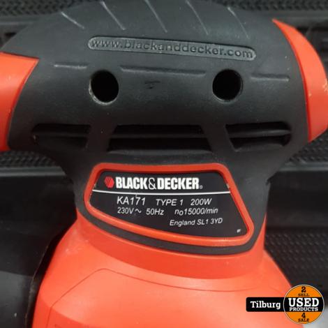 Black & Decker KA171 Vlakschuurmachine met Koffer || Incl. garantie
