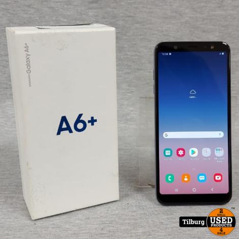 Samsung A6 Plus Zwart In doos || Incl. garantie