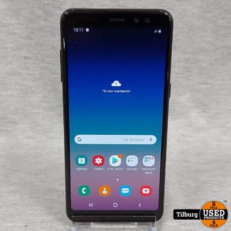 Samsung Galaxy A8 2018 32GB Zwart compleet in Doos || Incl. garantie
