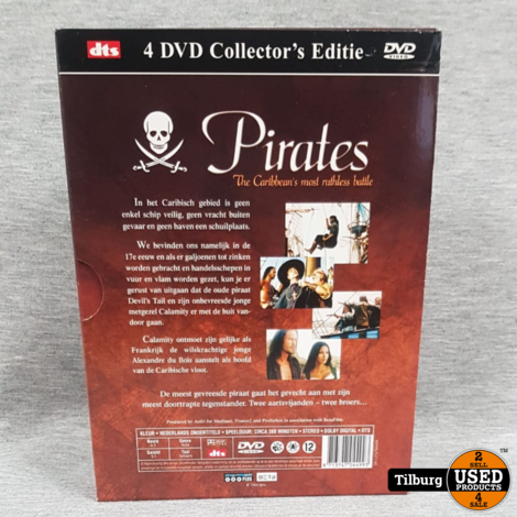 Pirates The Caribbean's Most Ruthless Battle 4DVD Collector's Editie || Incl. garantie