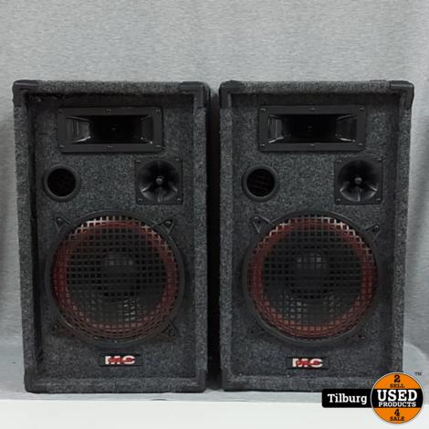 MC Carla Disco-speakerset met stoffen bekleding || Incl. garantie