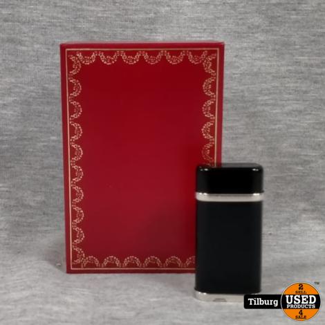 Cartier Black/Gold Aansteker met papieren in doosje || Incl. Garantie