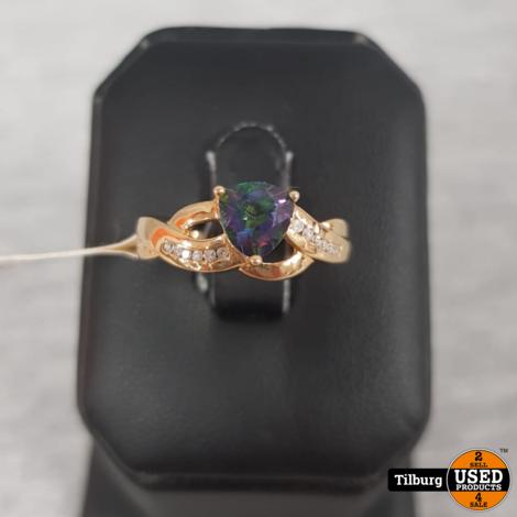 375 KRT Gouden Ring met Steen 2,63GR || Incl. garantie