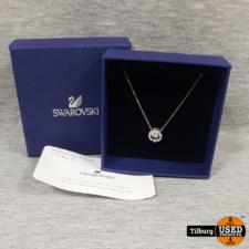 Swarovski Swarovski Zilveren Ketting Met steentje en certificaat in Doos