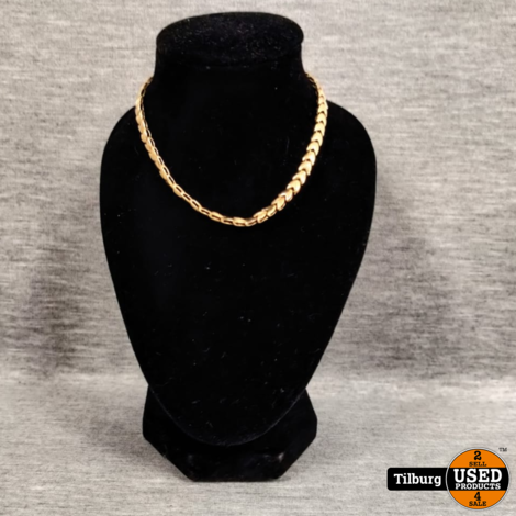 14KT Gouden Ketting + Armband SET 18.67 Gram