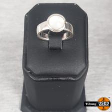 Zilveren Ring Met Ovalen Steentje