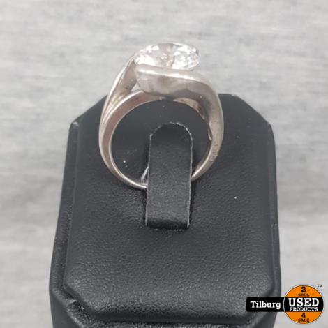 Zilveren Ring met Grote Steen