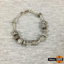 Zilveren Armband met 12 bedels 44 Gram