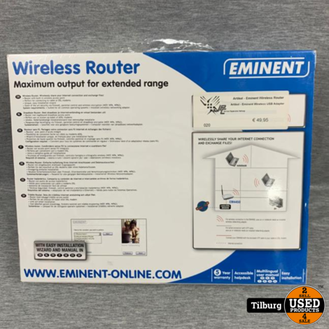 Eminent Wireless Router Nieuw in Doos