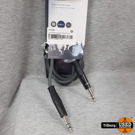 Nedis Balanced Audio Cable 6.35 mm Male to 6.35 mm Male