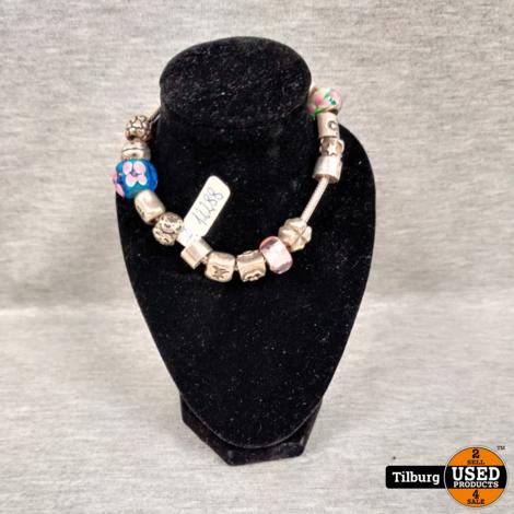 Zilveren Pandora Armband met 15 Bedels