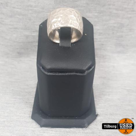 Zilveren Brede Ring 19 Gram maat 18
