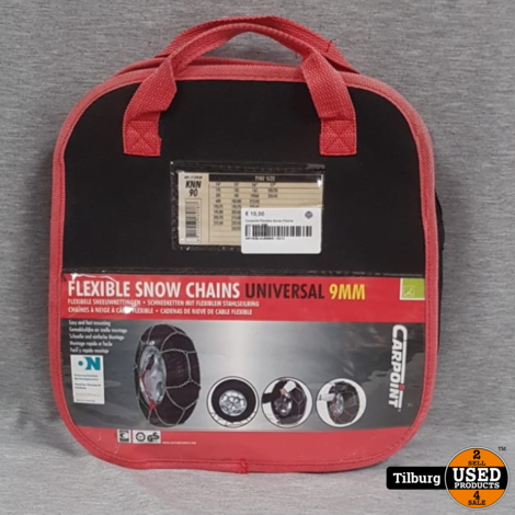 Carpoint Flexible Snow Chains Universal 9MM in Tas