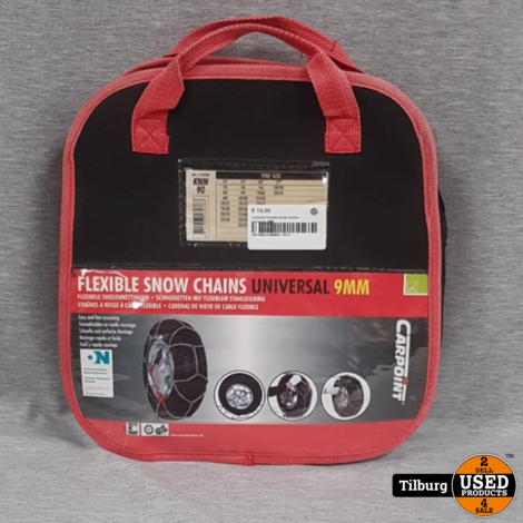 Car Point Flexible Snow Chains Universal 9MM in Tas