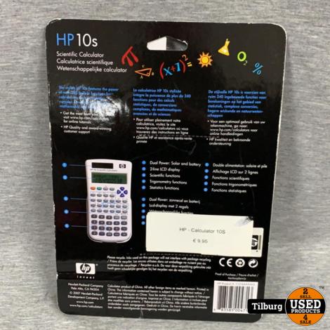 HP 10S Scientific Calculator Nieuw in Blister