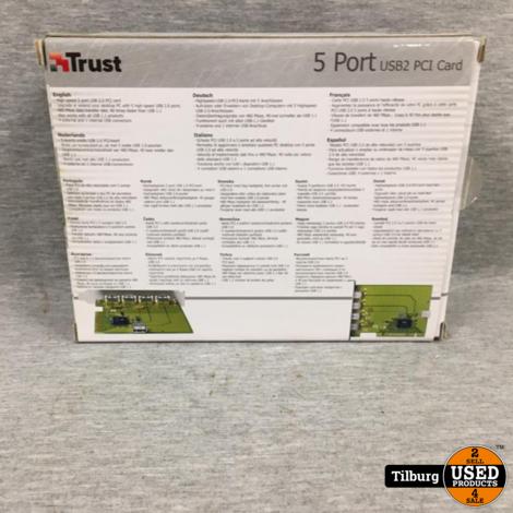 Trust 5 Port USB2 PCI Card Nieuw in Doos
