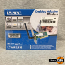 Eminent Desktop Adapter Wireless 54MBPS Wifi Nieuw in Doos