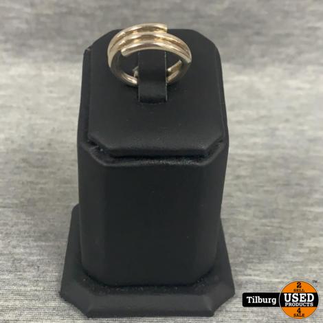 Zilveren Ring 3-laags 5.8 Gram