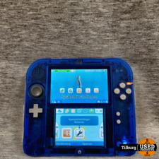Nintendo Nintendo 2DS Transparant Blauw met Oplader en Hoes || Incl. garantie