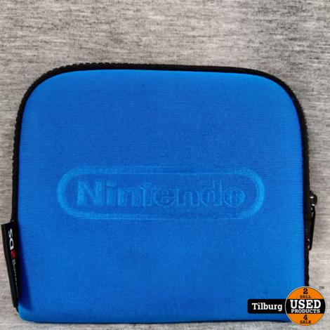Nintendo 2DS Transparant Blauw met Oplader en Hoes || Incl. garantie