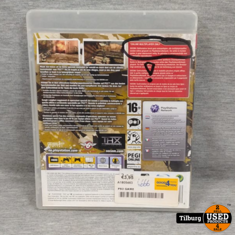 Sony PS3 Socom Controntation (online multiplayer only)
