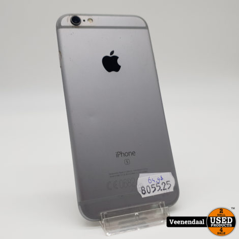 iPhone 6S 64GB Space Gray - in Goede Staat