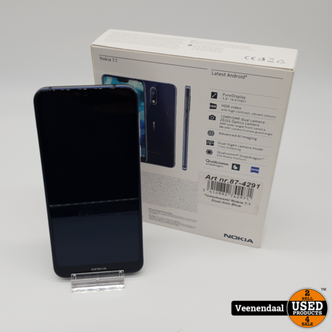 Nokia 7.1 Blue 32GB Dual Sim  - In Prima Staat