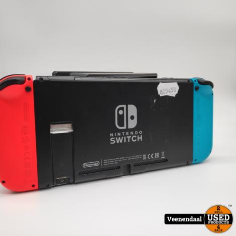 Nintendo Switch 2019 Model Neon Rood/ Blauw - In Goede Staat