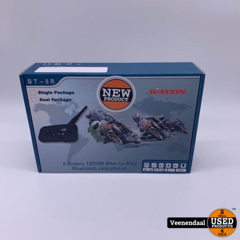 Wayxin Interphone Modules V6 Motor communicatiesysteem Bluetooth 1200 Meter 2 Stuk(s) - Nieuwstaat