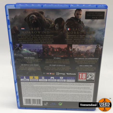 The Elder Scrolls Morrowind PS4 Game - In Prima Staat