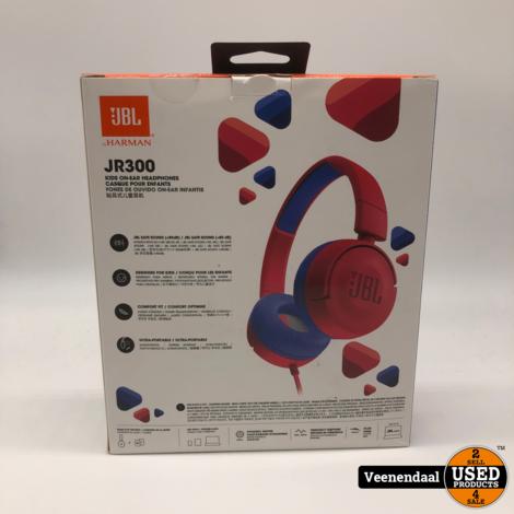 JBL JR300 kids On-Ear Headphone Red  - Nieuw