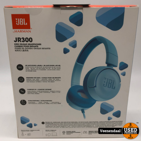 JBL JR300 Kids On-Ear Headphone Ice Blue - Nieuw