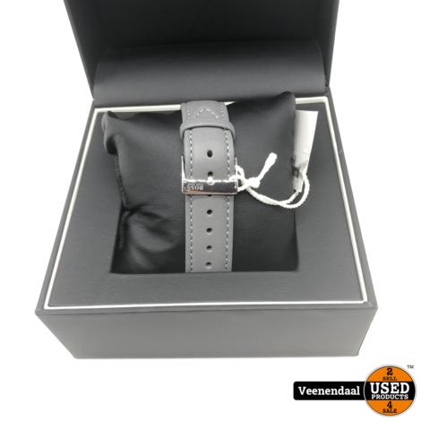 Hugo Boss HB1513539 Horizon Horloge - Leer - Grijs - Ø40 mm - NIEUW