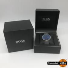 Hugo Boss Hugo Boss HB1513539 Horizon Horloge - Leer - Grijs - Ø40 mm - NIEUW