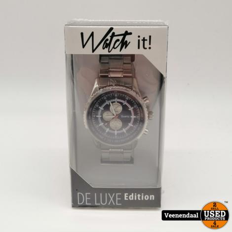 Watch It Deluxe Heren Horloge - Nieuw!