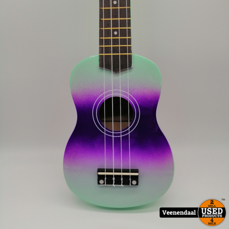 Ukulele Mint + Purple - Nieuw!