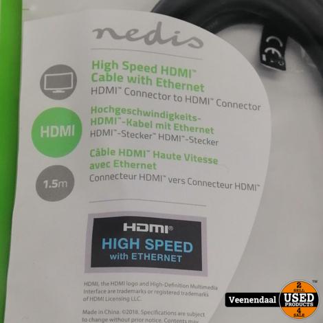 Nedis High Speed HDMi-kabel met Ethernet 1,5 Meter - Nieuw