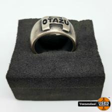 Otazu Otazu Herenring Maat 22 Zilver 925 - In Goede Staat