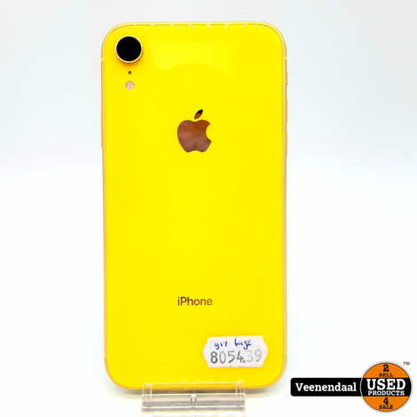 Apple iPhone XR 64GB Geel Accu 91% - In Prima Staat