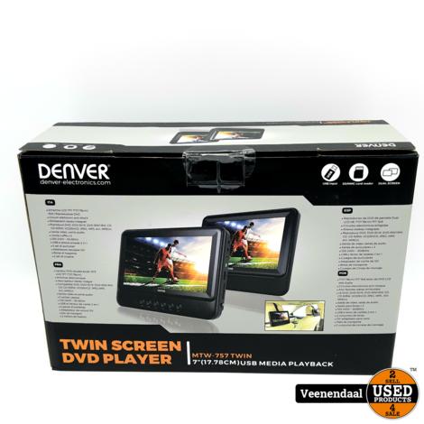 Denver MTW-757 Twin Hoofdsteun DVD Speler - Nieuw