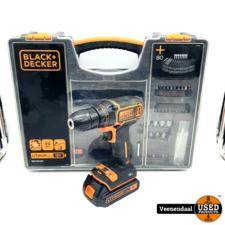 Black & Decker Black&Decker BDCDC18 Accuschroefmachine 18V - in Goede Staat