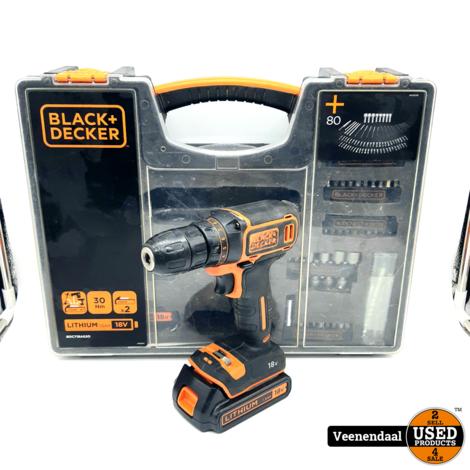 Black&Decker BDCDC18 Accuschroefmachine 18V - in Goede Staat