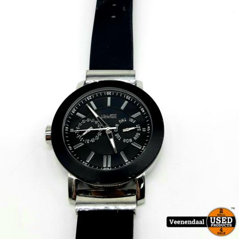 Esprit 805-ALL Heren Horloge Zwart - In Goede Staat