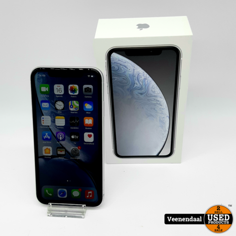 Apple iPhone XR 64GB Wit - Accu 91% - In Goede Staat