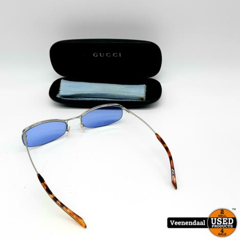 Gucci zonnebril - Blauwe Glazen - In Goede Staat